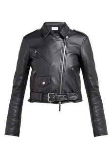 The Row Perlin leather jacket