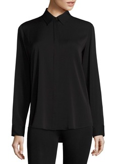 The Row Essentials Petan Stretch Silk Shirt