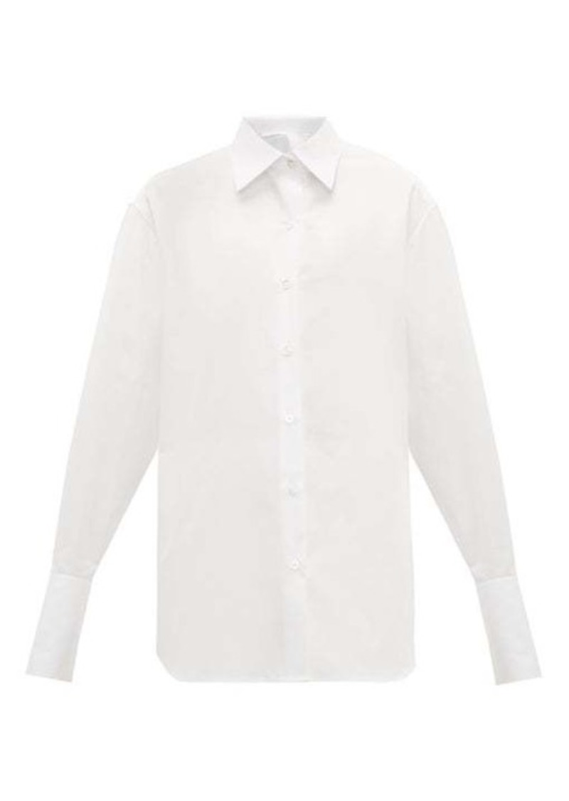 The Row Pia sea island-cotton shirt