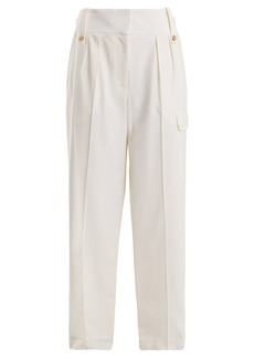The Row Piefer wide-leg cotton-blend trousers