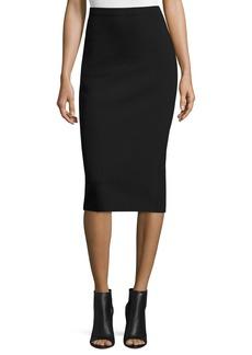 THE ROW Rabina Scuba Pencil Midi Skirt  Black