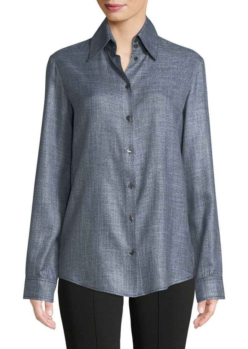 On sale today the row ravia button front long sleeve for Bamboo button down shirts