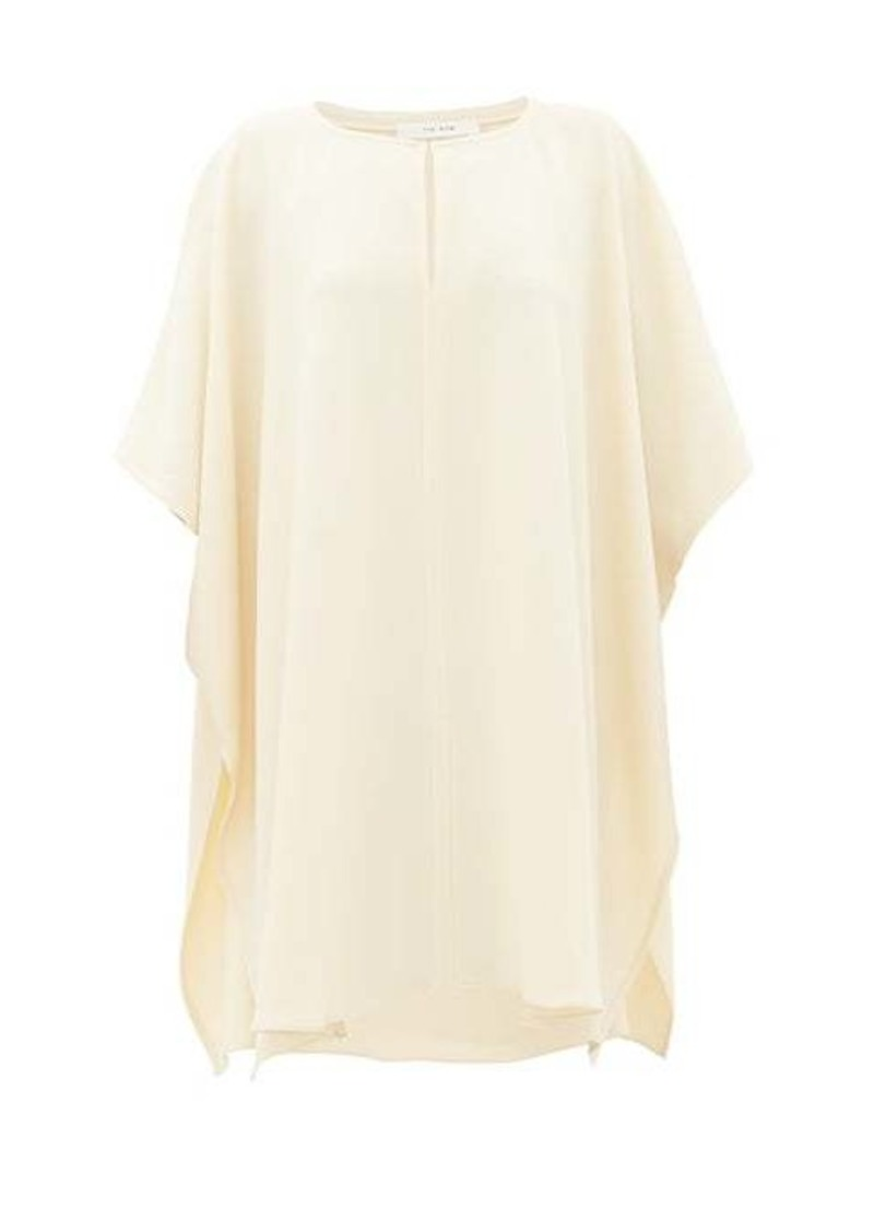 The Row Renato keyhole cady kaftan top