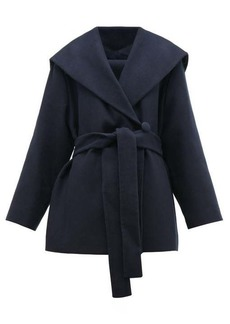 The Row Reyna double-breasted cotton-blend wrap coat