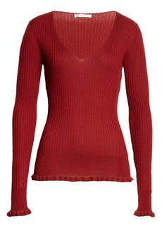 The Row Rib Cashmere Silk Sweater