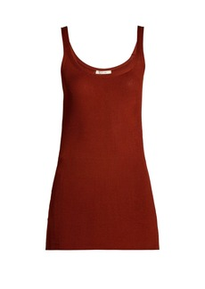 The Row Ribbed silk tank top