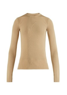 The Row Ridiah ribbed-jersey sweater