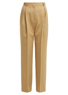 The Row Rina high-rise wool-blend trousers