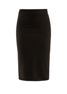 The Row Rosia stretch wool-blend tube skirt
