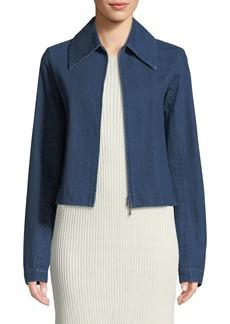 THE ROW Roxanne Zip-Front Denim Jacket