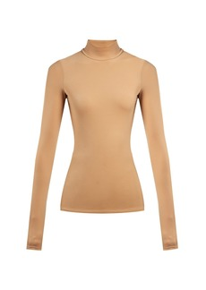 The Row Rudd stretch-jersey mock neck top