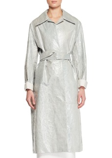 THE ROW Rundi Spread-Collar Belted  Leather Coat