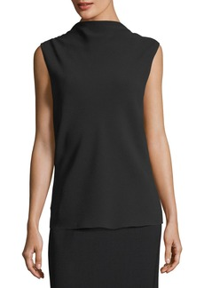 The Row Sandra Draped Silk V-Back Top
