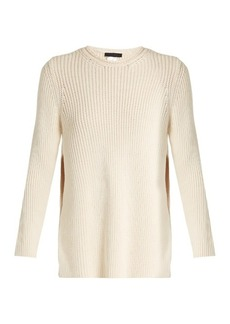 The Row Selina ribbed-knit cotton-blend sweater
