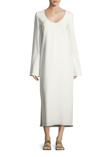THE ROW Selma Bell-Sleeve Cady Midi Dress