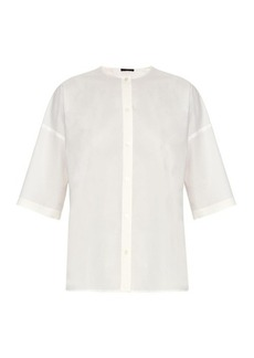 The Row Shelly cotton-poplin blouse