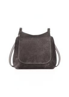 THE ROW Sideby Suede Messenger Bag