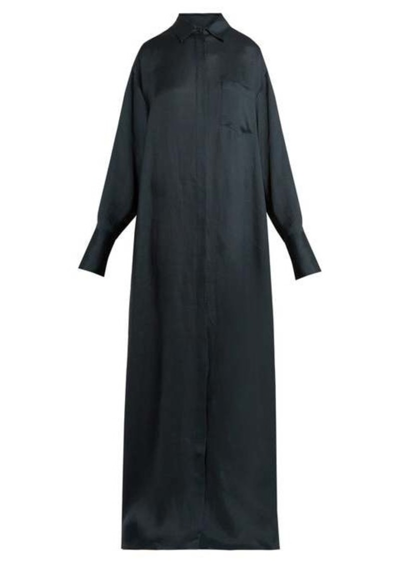 The Row Siena crepe shirtdress