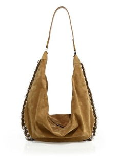 The Row Sling 15 Suede Hobo Bag