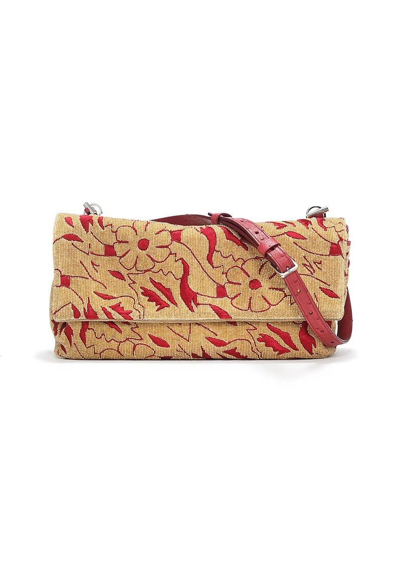 6ba2315820 The Row THE ROW Small Floral Beaded Flap Bag