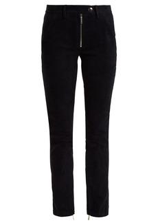 The Row Smashton skinny suede trousers
