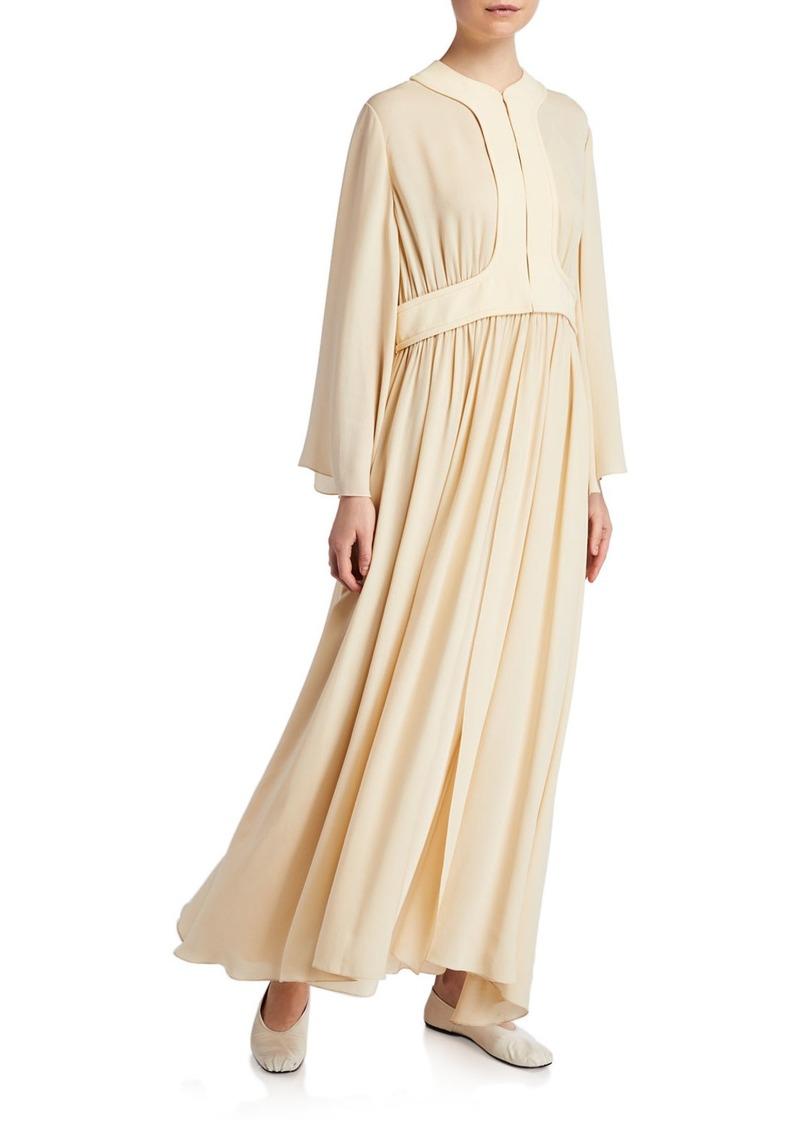 THE ROW Smith Pleated Midi Dress