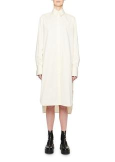 THE ROW Sona Long-Sleeve Cotton Shirtdress