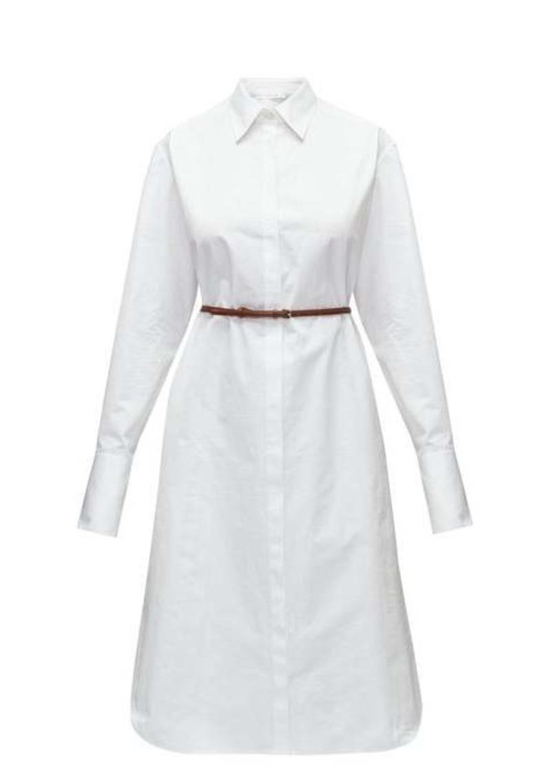 The Row Sonia belted poplin midi shirtdress