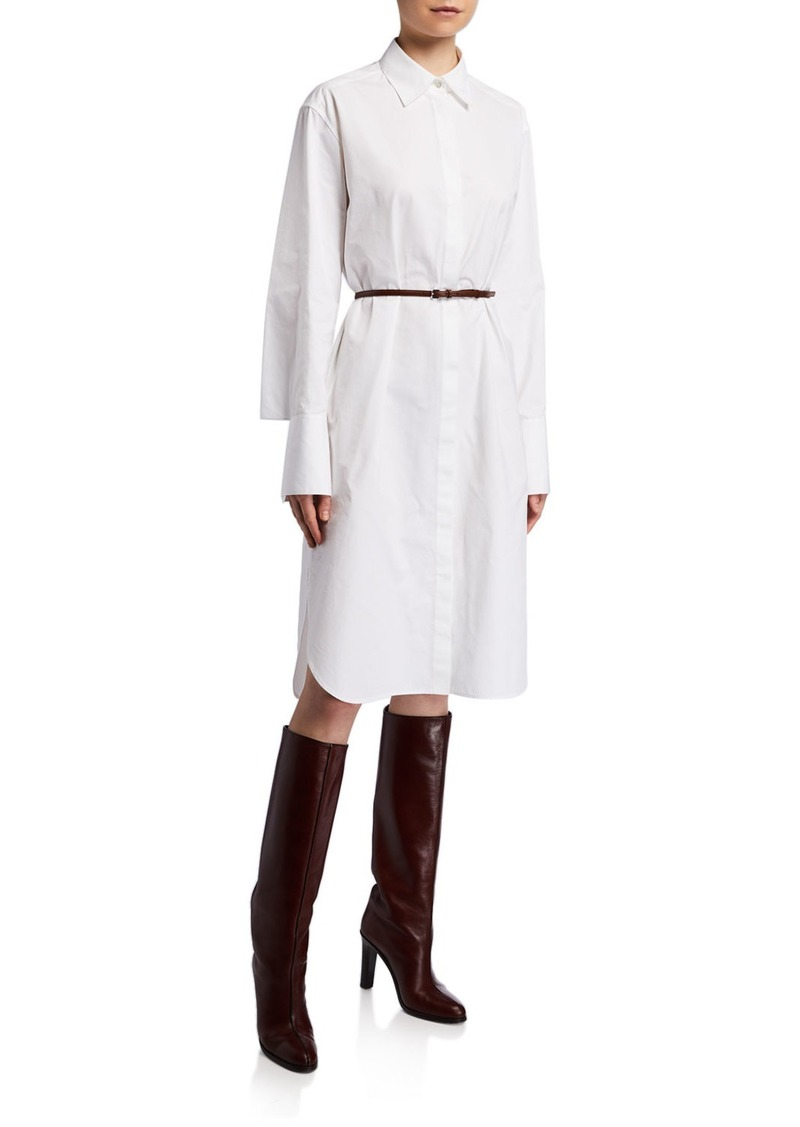 THE ROW Sonia Long-Sleeve Cotton Shirtdress