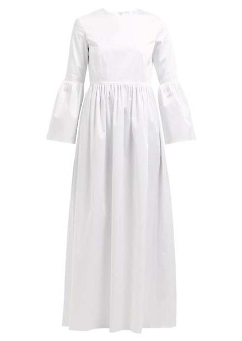 The Row Sora bell-sleeve cotton-blend maxi dress