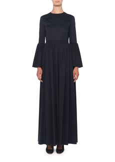 THE ROW Sora Bell-Sleeve Poplin Maxi Dress