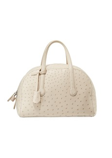 THE ROW Sporty Bowler 12 Ostrich Satchel Bag