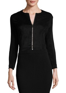 THE ROW Stanna Cropped Zip-Front Jacket