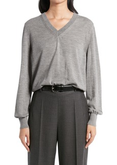 The Row Stockwell V-Neck Cashmere Sweater