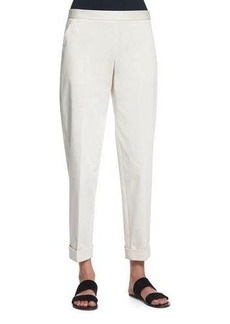 THE ROW Straight-Leg Cropped Pants