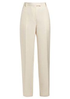 The Row Straight-leg silk-blend trousers