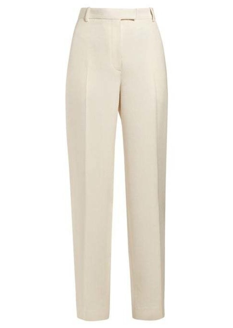 The Row Straight-leg silk-blend trousers