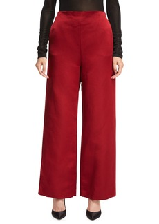 THE ROW Strom Silk Satin Wide-Leg Pants