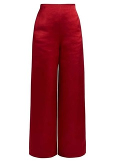 The Row Strom washed duchess-satin trousers