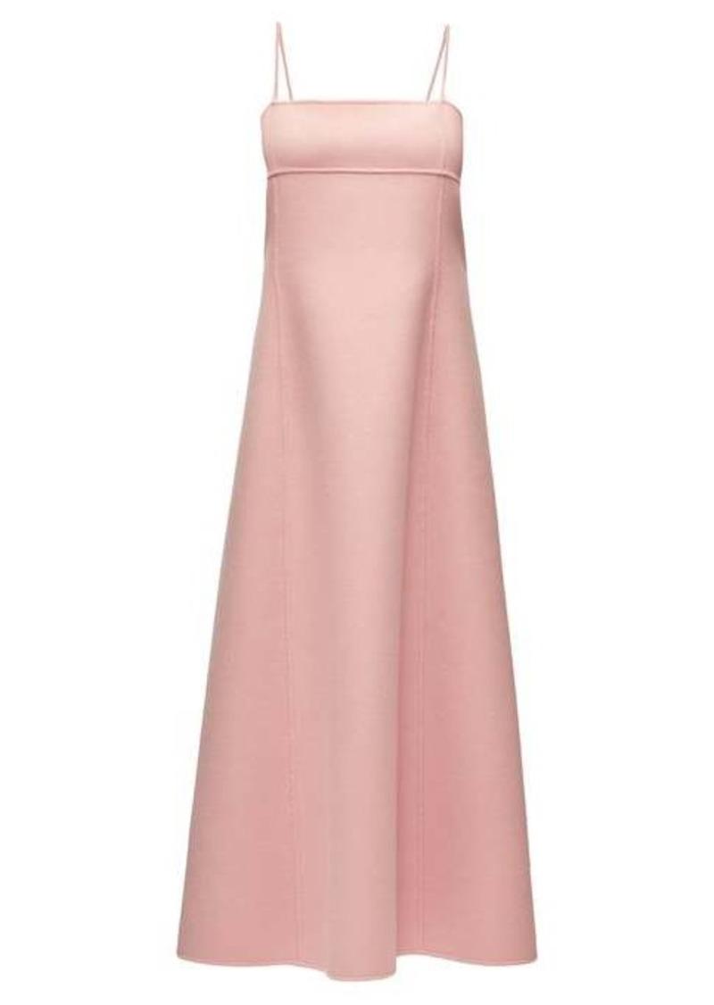 The Row Sylvia square-neck cashmere dress