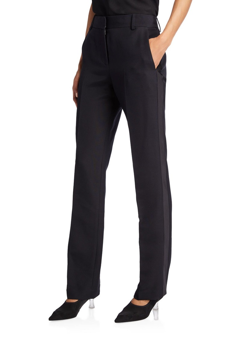 THE ROW Tacome Wool-Silk Tuxedo Pants