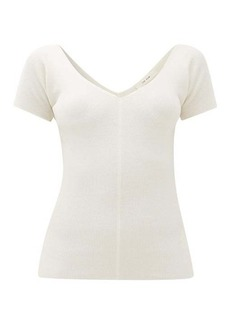 The Row Tain ribbed wool-blend top