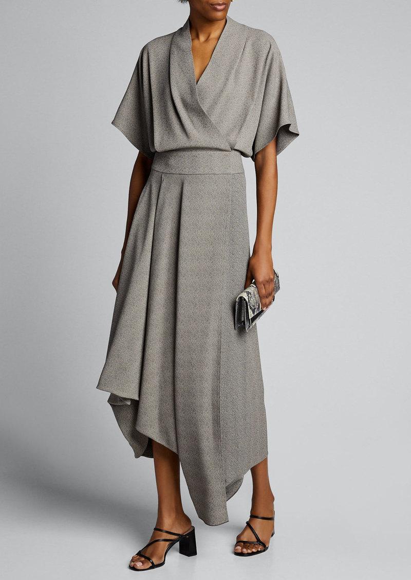 THE ROW Talisa Crepe Asymmetric Dress