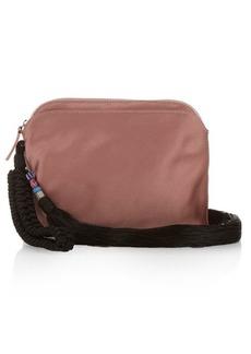 The Row Tassel silk-satin wristlet clutch