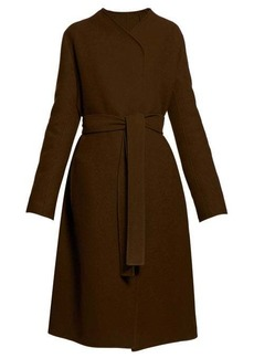 The Row Terin belted wool-blend coat