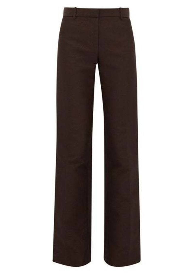 The Row Terrance straight-leg crepe tailored trousers