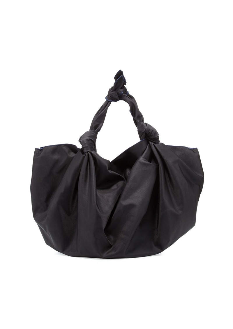 The Row Ascot Knot Nylon Hobo Bag