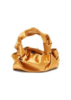The Row The Ascot silk-satin clutch bag