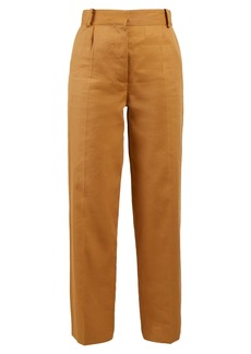 The Row Thea Panama linen trousers