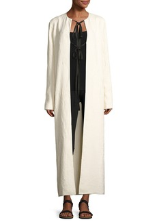 THE ROW Tiel Crinkled Silk Duster Coat
